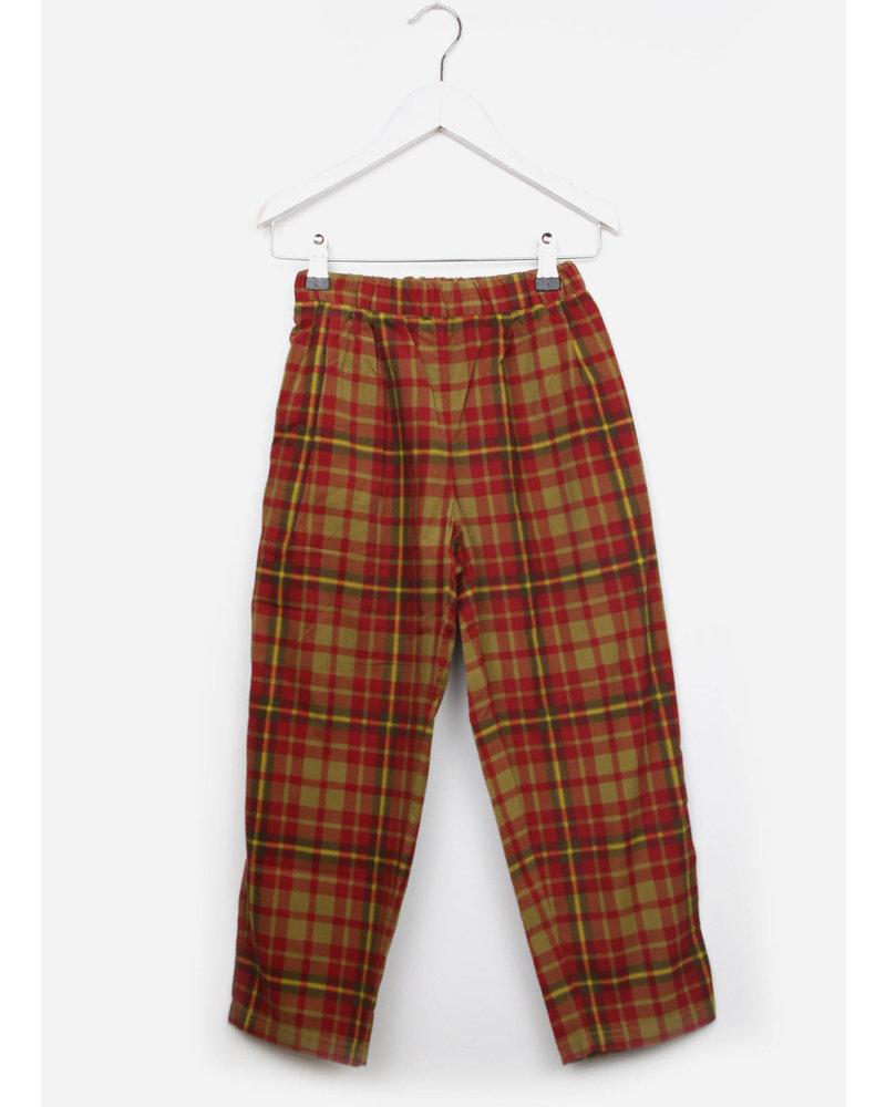 East end highlanders lounge pants - green/red