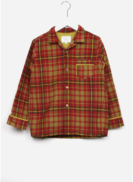 East end highlanders pajama shirt - green/red