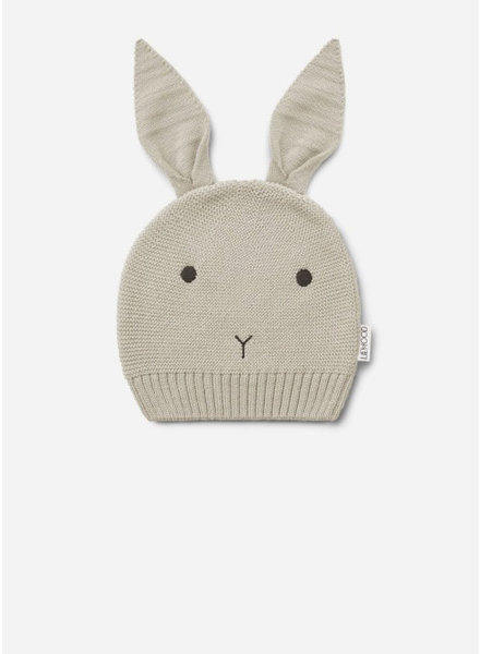 Liewood viggo knit hat rabbit ecru