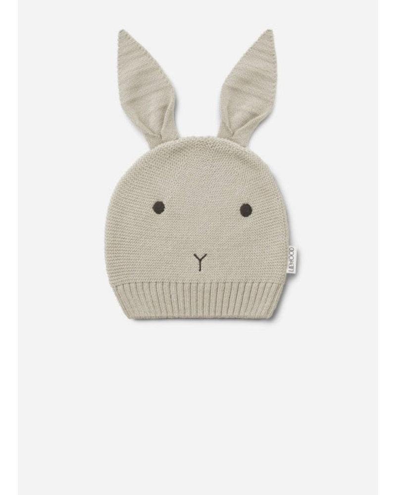 Liewood viggo knit hat rabbit ecru