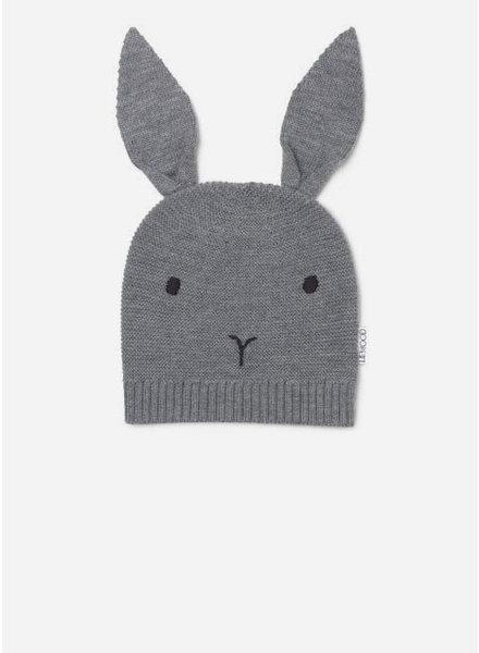 Liewood viggo knit hat rabbit grey melange