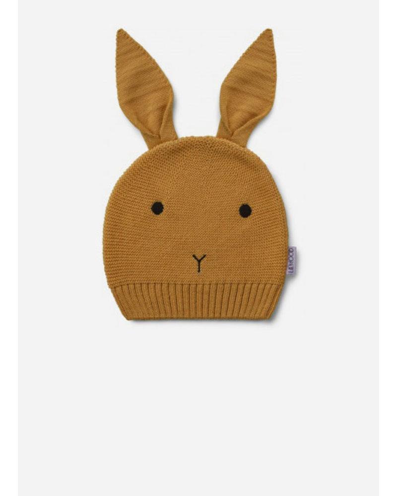 Liewood viggo knit hat rabbit mustard