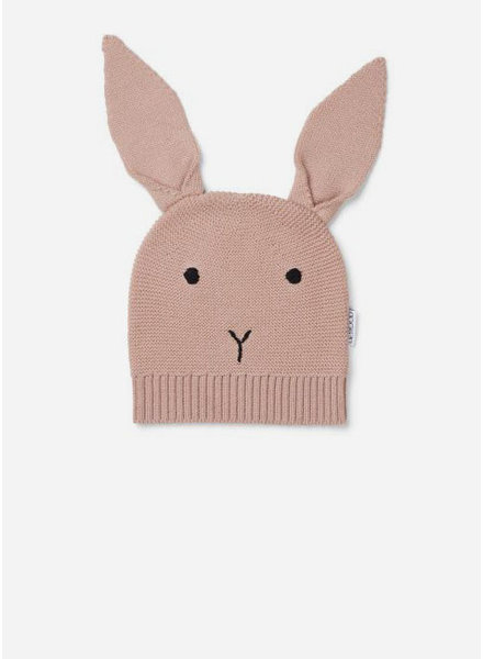 Liewood viggo knit hat rabbit rose