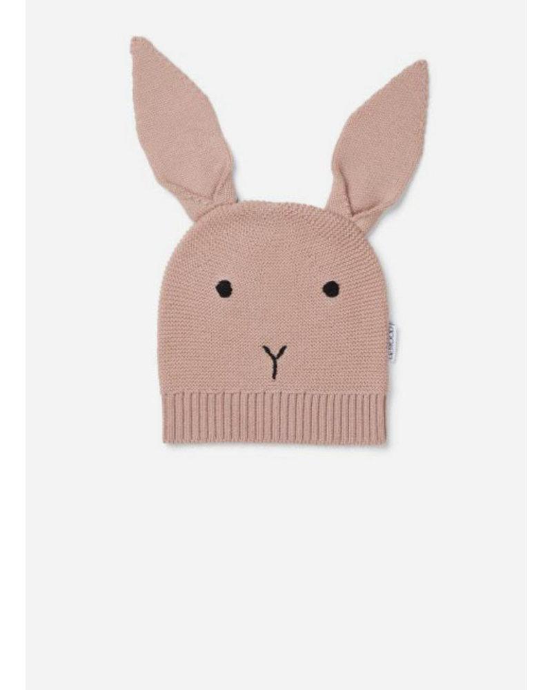 Liewood viggo knit hat rabbit rose