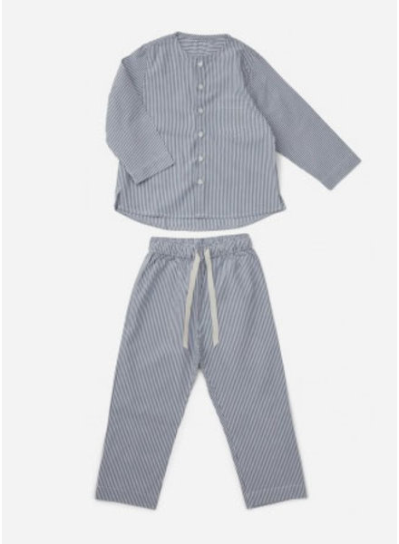 Liewood olly pyjamas set blue wave white