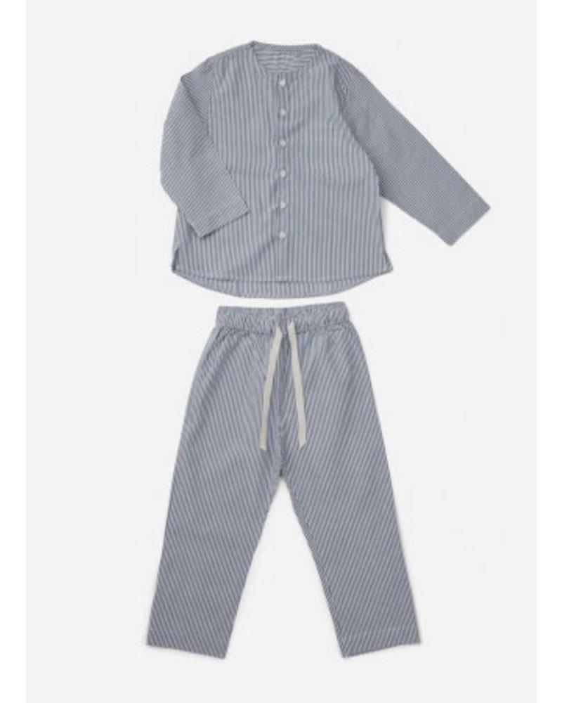 Liewood olly pyjamas set blue wave white