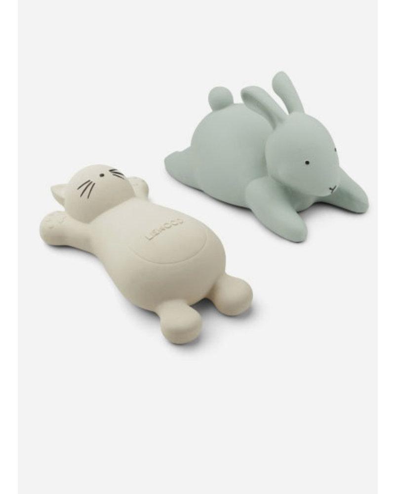 Liewood vikky bath toys 2 pack cat creme de la creme