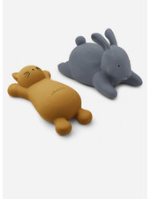 Liewood vikky bath toys 2 pack cat mustard