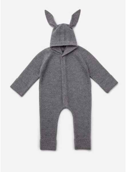 Liewood njord knit jumpsuit rabbit grey melange