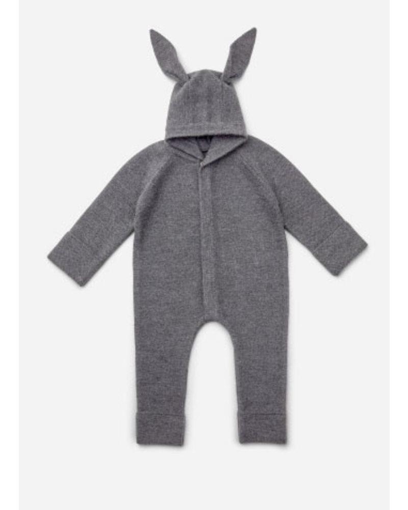 Liewood njord knit jumpsuit rabbit grey melange