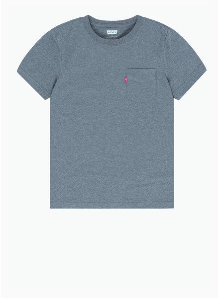 Levi's tee shirt - grey heather met borstzakje