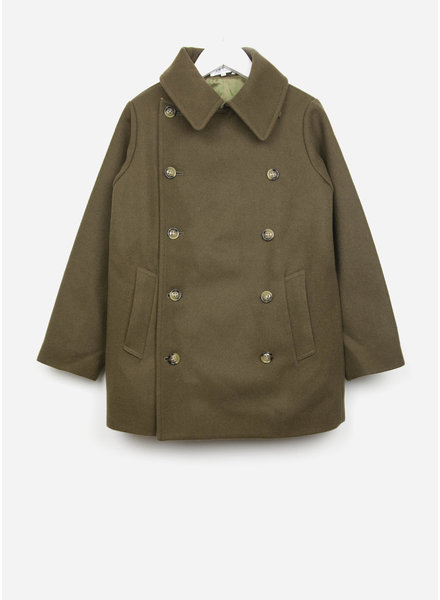 East end highlanders pea coat olive