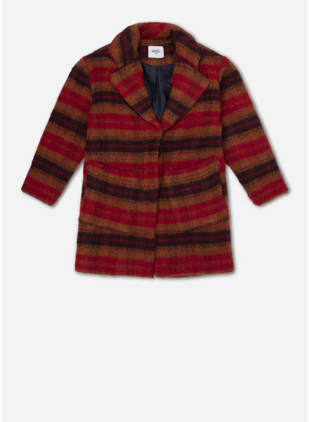 Repose overcoat - warm red check
