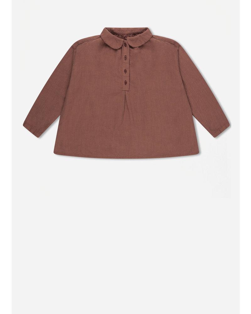 Repose peter pan blouse - russet