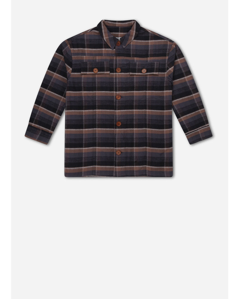 Repose shirt - inky brown check
