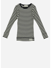 MarMar Copenhagen plain tee modal ls black/off white