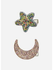 Mimi and Lula new midnight glitter clips
