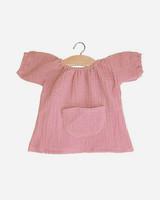 Mimi and Lula robe jeanne en coton double gaze rose
