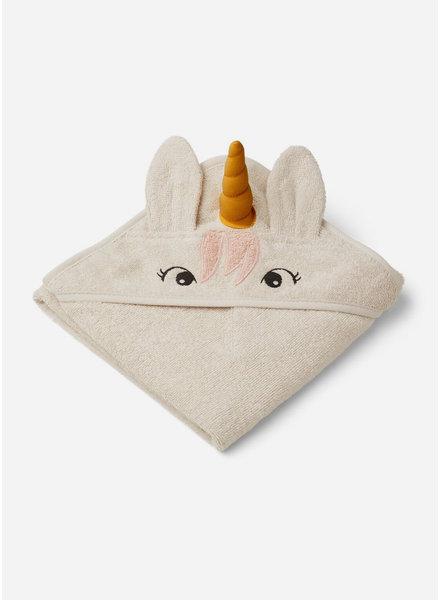 Liewood albert hooded towel unicorn sandy