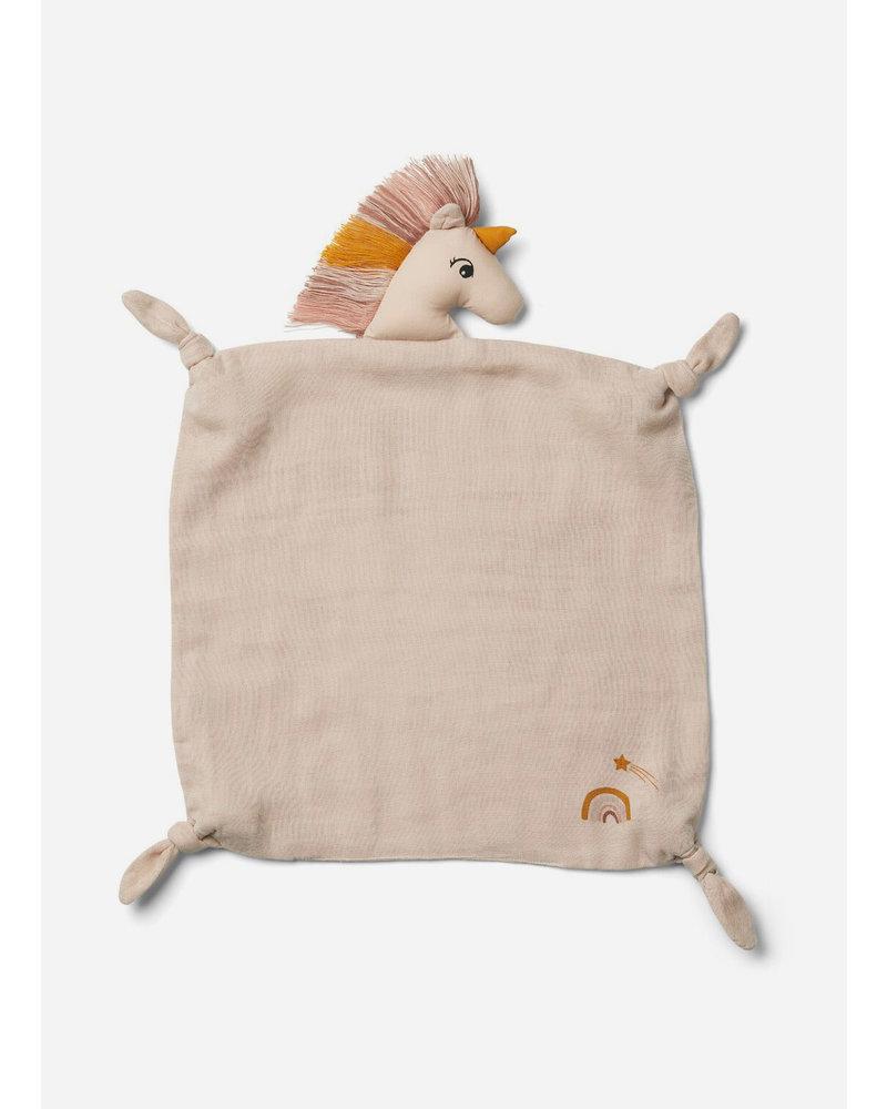Liewood agnete cuddle cloth unicorn sorbet rose