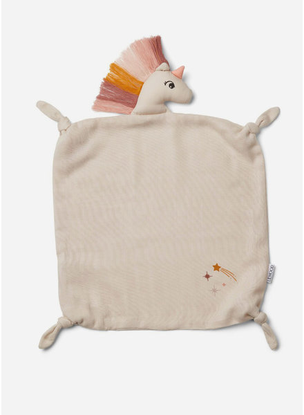 Liewood agnete cuddle cloth unicorn sandy