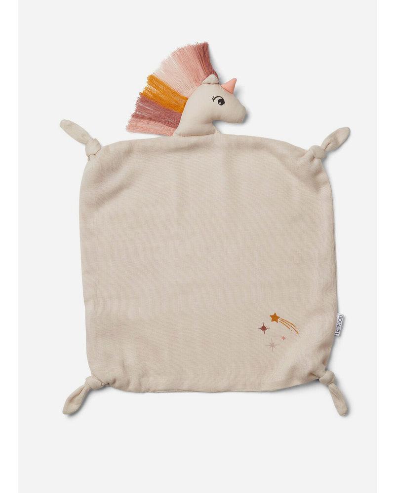 Liewood agnete cuddle cloth unicorn sandy