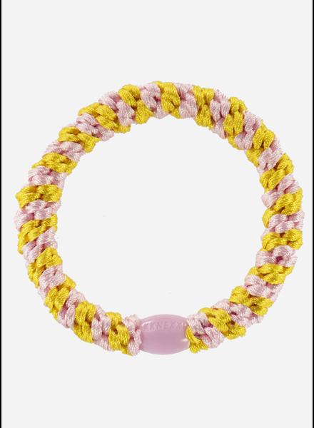 Bon Dep kknekki yellow-pink stripe