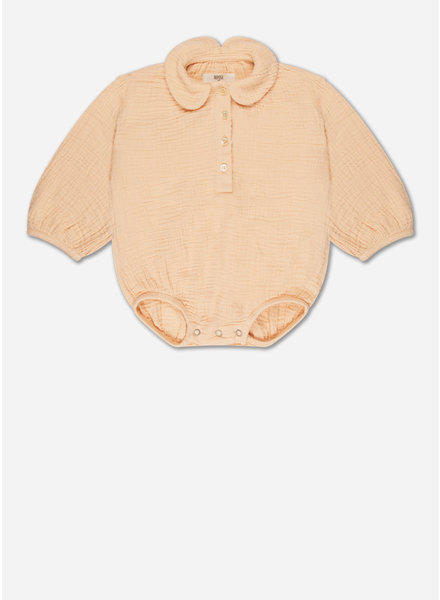 Repose woven collar suit - kind clay