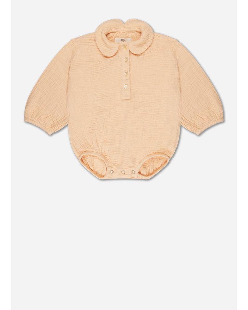 Repose minikin 9. woven collar suit - kind clay