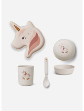 Liewood elin bamboo box set unicorn creme