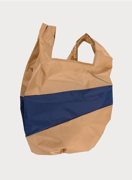 Susan Bijl shoppingbag camel and navy