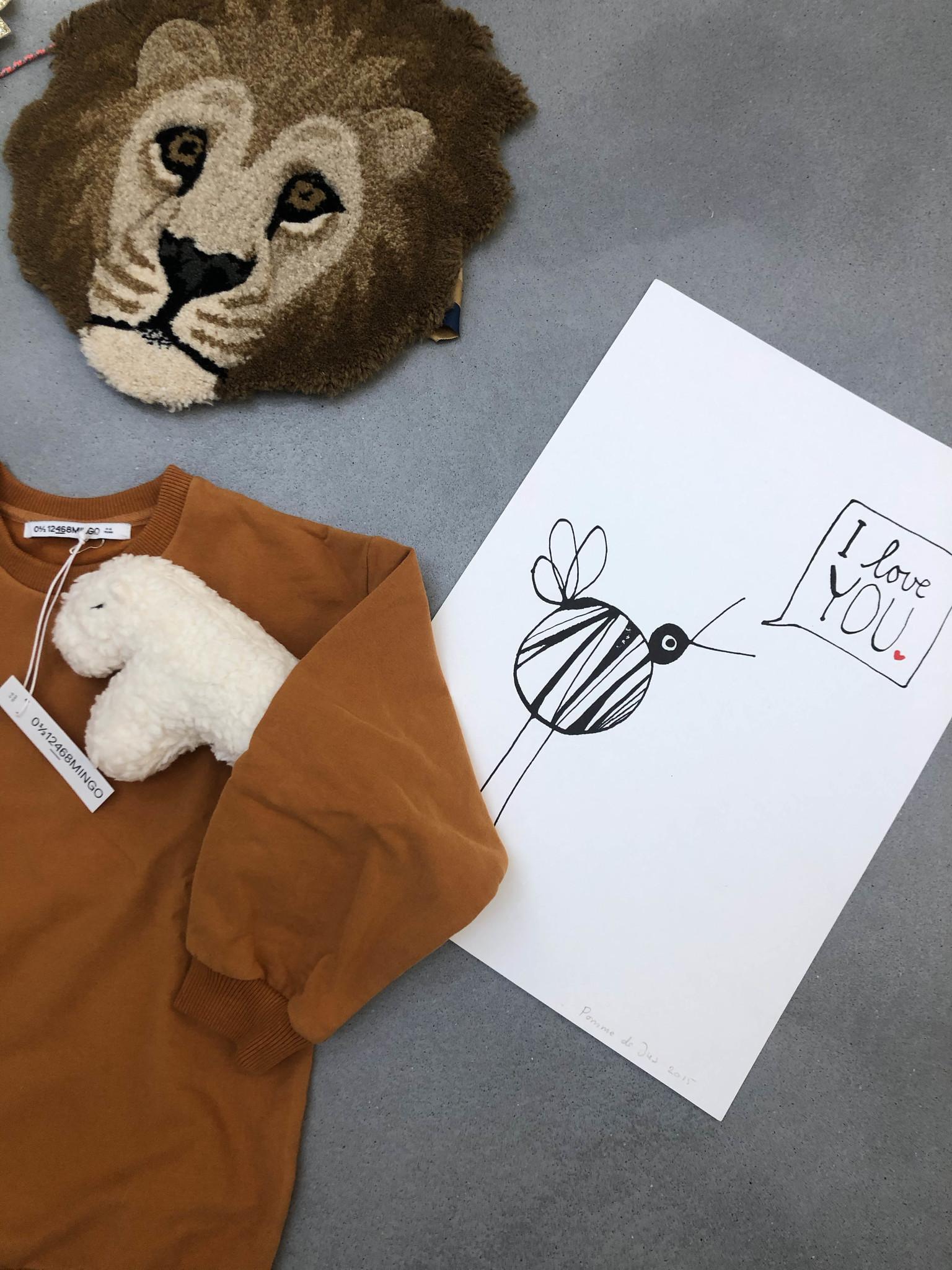 mand met leeuw