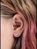 Charlotte Wooning oorbellen confetti zilver/groen