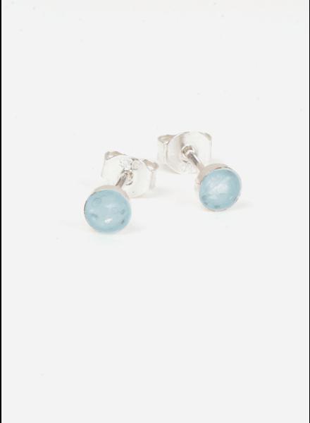 Charlotte Wooning oorbellen confetti zilver/blauw