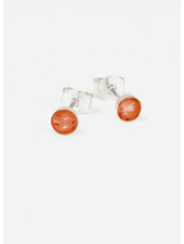 Charlotte Wooning oorbellen confetti zilver/coral
