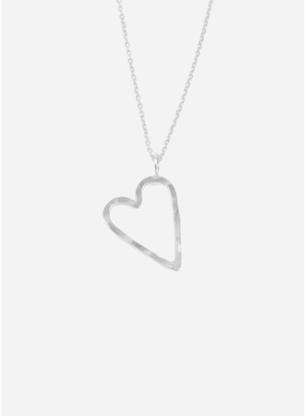 Charlotte Wooning ketting hart zilver