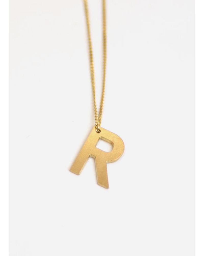 Charlotte Wooning ketting alfabet goud kleurig