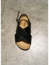 Angulus sandal with soft foot bed - black