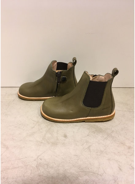 Angulus starter chelsea boot with elastic and zipper - khaki brown