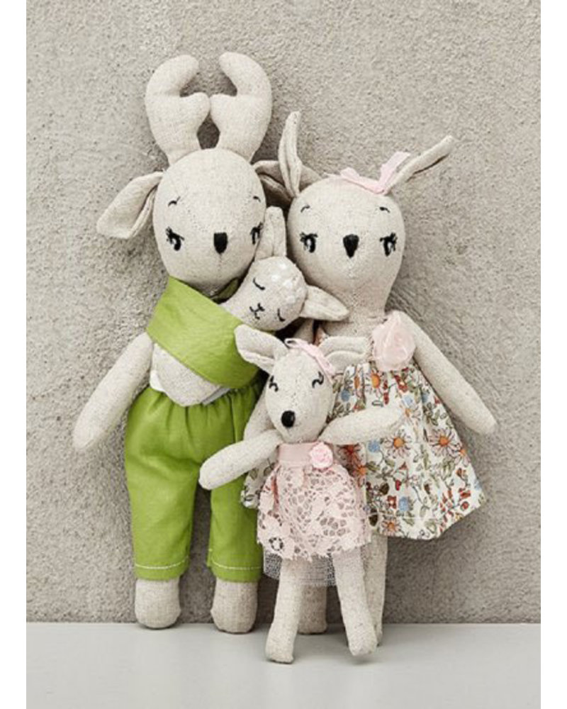 Minikane deer family - poupees de chiffon
