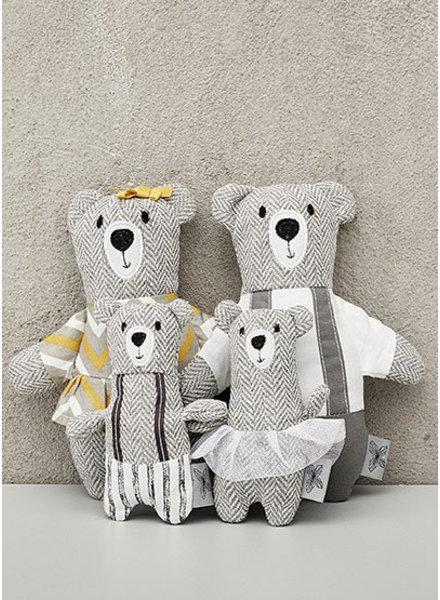 Minikane bear family - poupees de chiffon