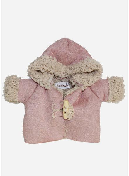 Minikane poppenkleertjes manteau winter rose poudre