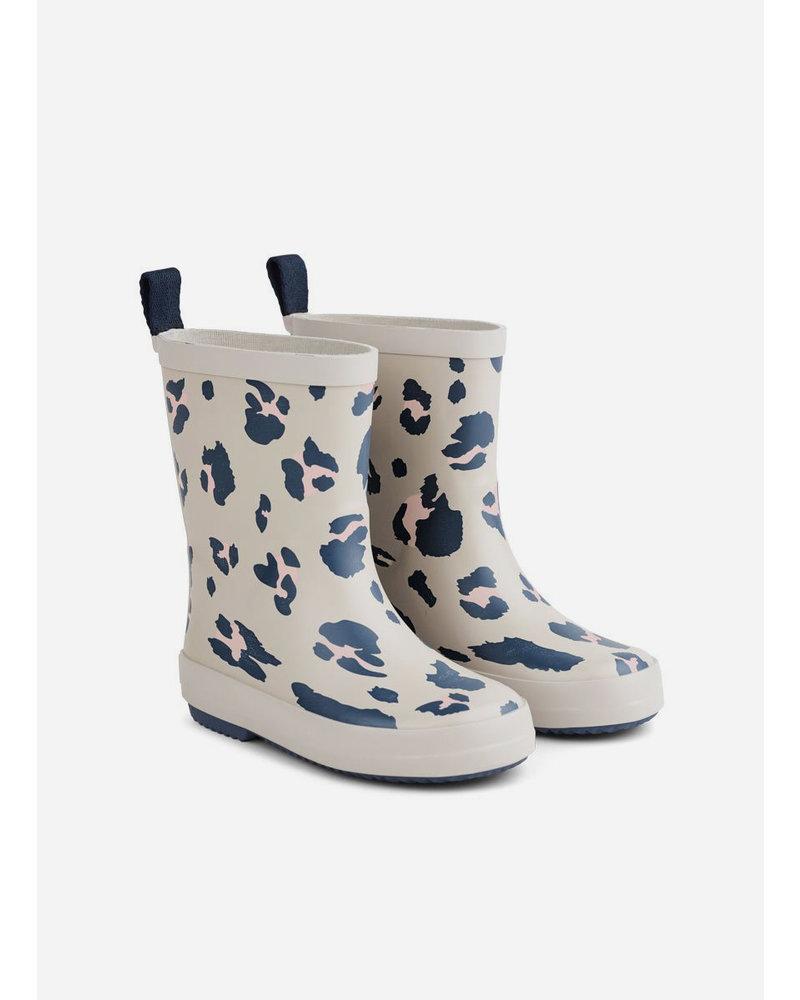 Liewood rio rain boot leo ecru