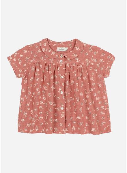 Buho lili romatic blouse - brick