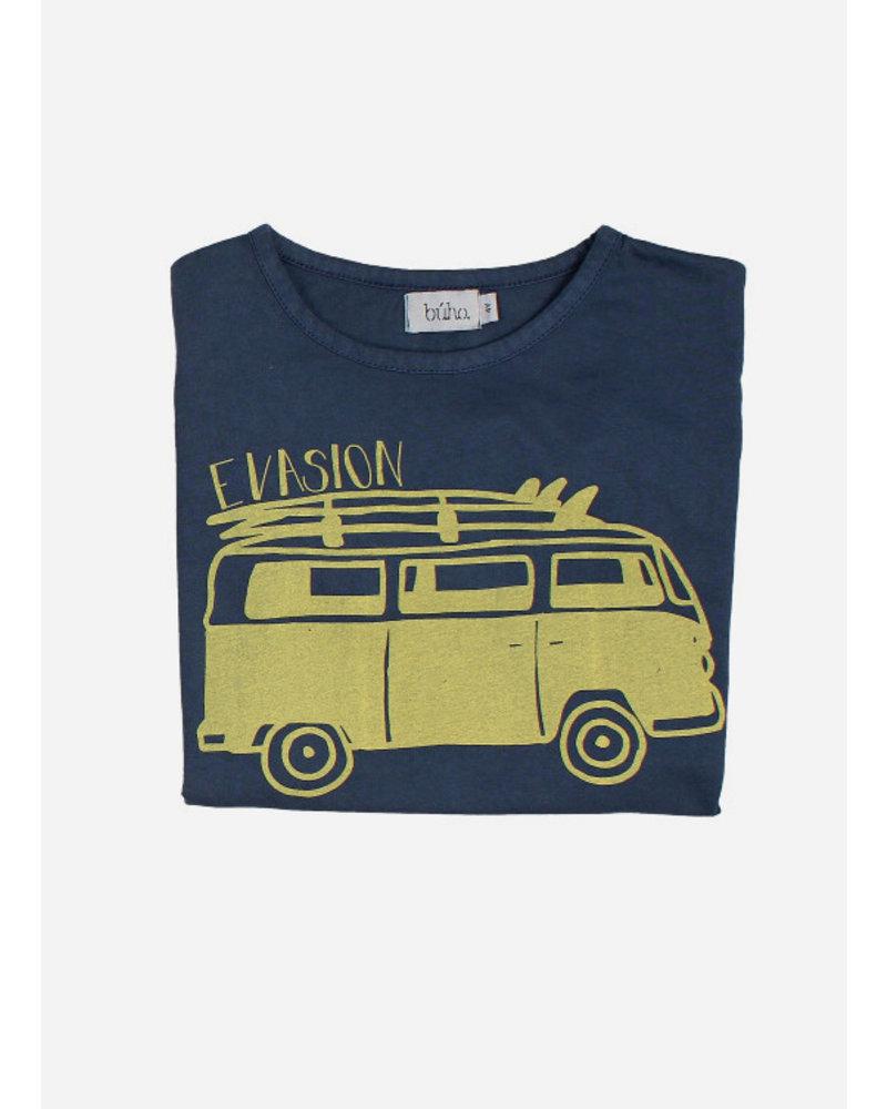 Buho leo evasion tshirt - indigo