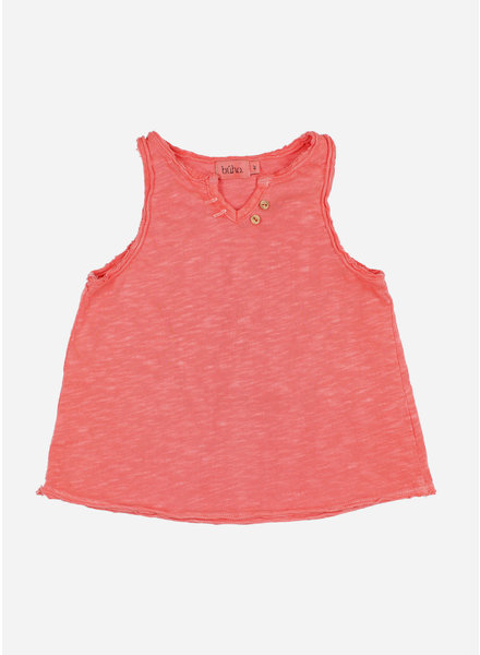 Buho belle cotton flame tshirt - coral