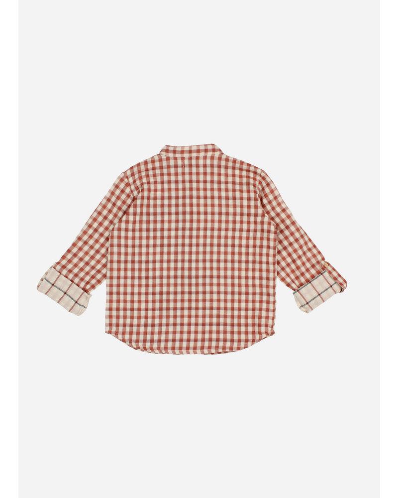 Buho paul check shirt - vicky brick