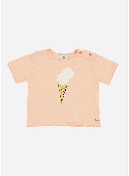 Buho cesar baby ice cream tshirt - blush pink