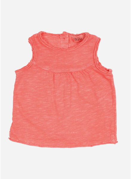 Buho isabelle cotton flame tshirt - coral