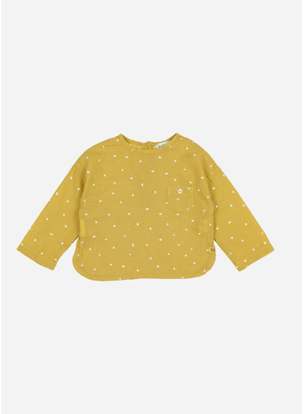 Buho teo petit treats pocket shirt - ocre